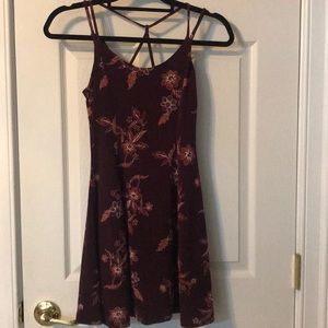 UO-style fit&flare dress w/ strappy back detail